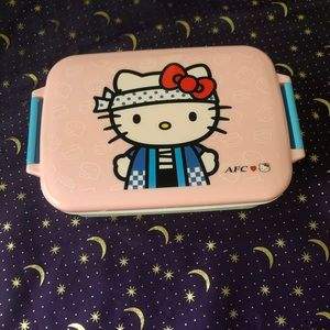 AFC HELLO KITTY FOOD CONTAINER/ BENTO BOX LIKE NEW
